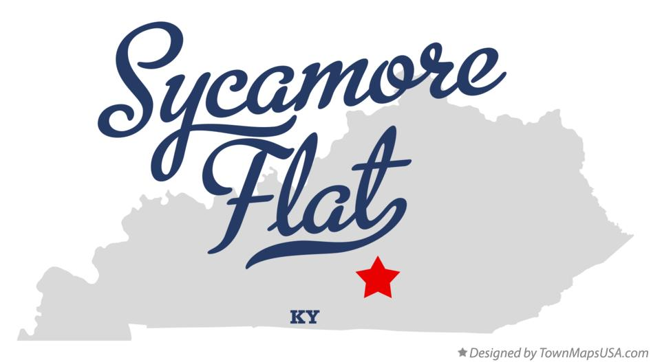 Map of Sycamore Flat Kentucky KY