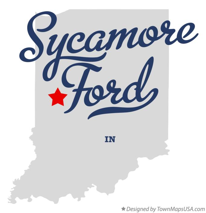 Map of Sycamore Ford Indiana IN