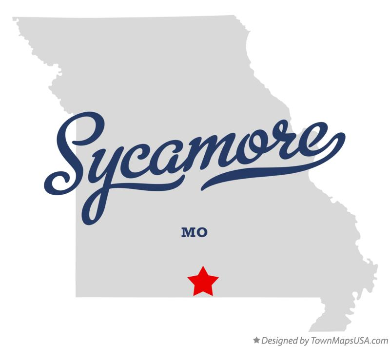Map of Sycamore Missouri MO