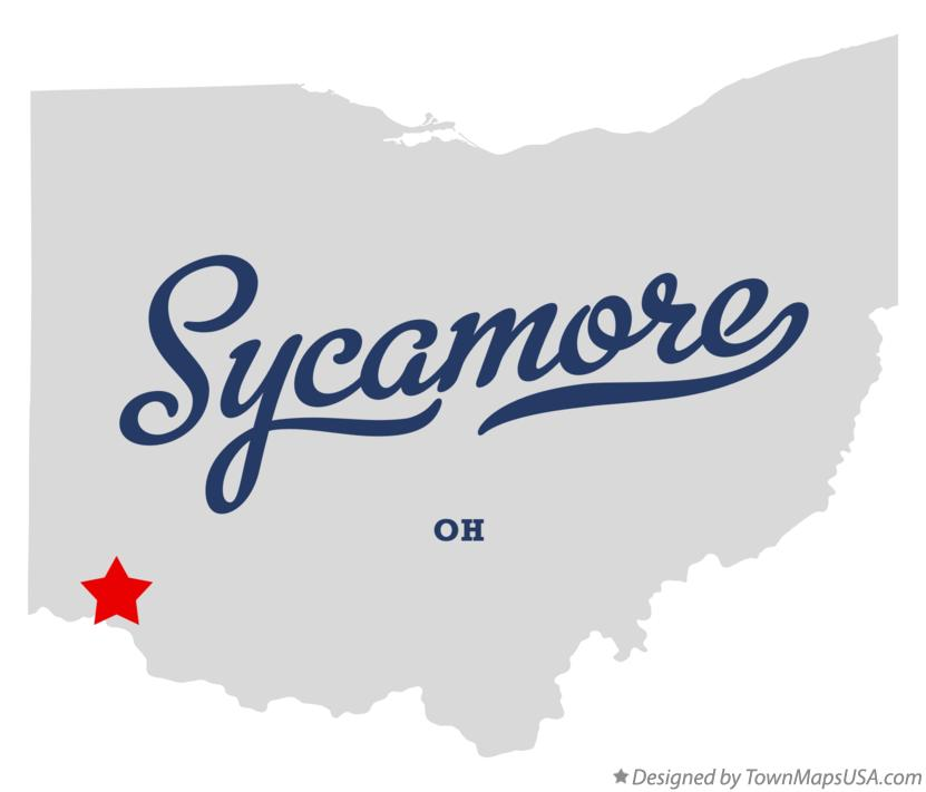 Map of Sycamore Ohio OH