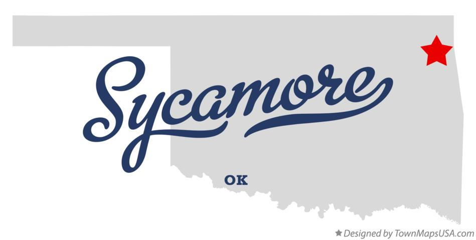 Map of Sycamore Oklahoma OK