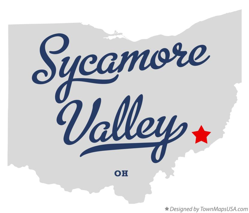 Map of Sycamore Valley Ohio OH