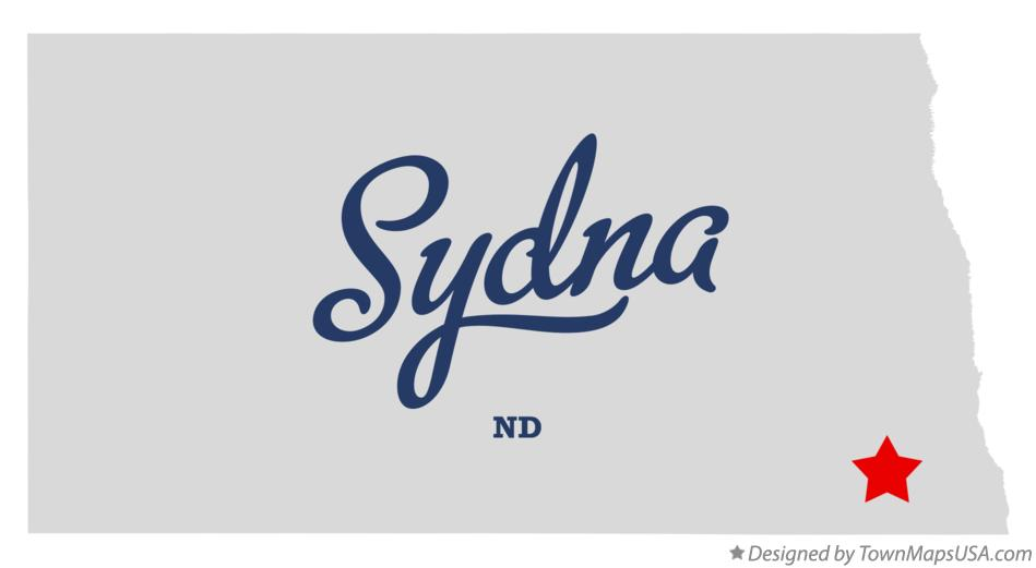 Map of Sydna North Dakota ND