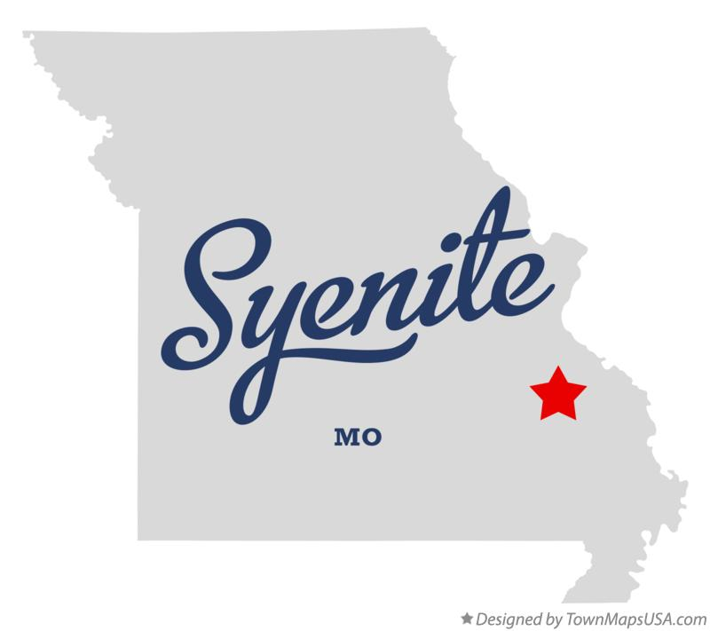 Map of Syenite Missouri MO