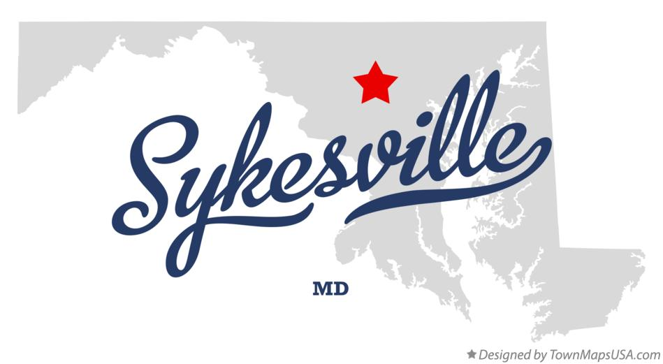 Map of Sykesville Maryland MD