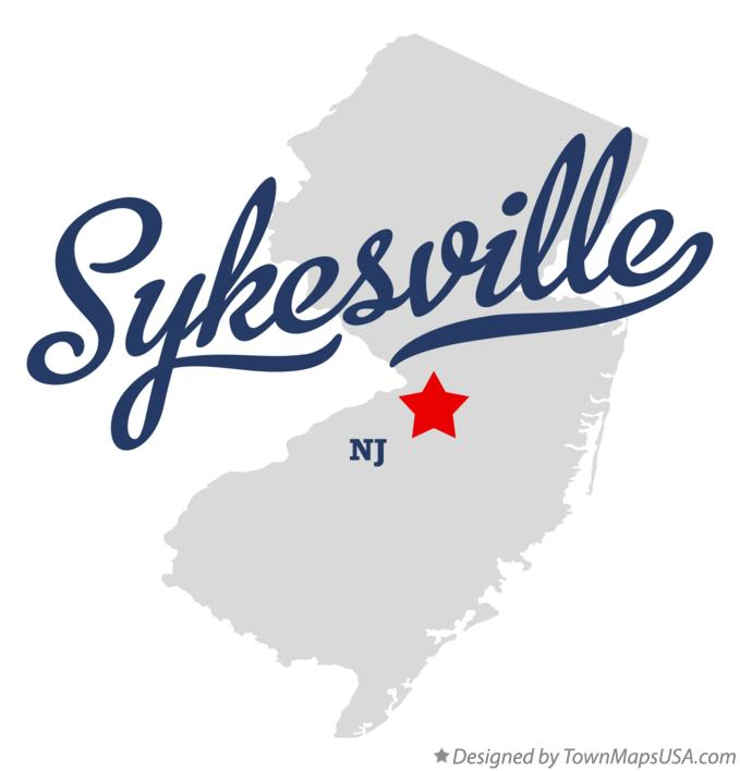 Map of Sykesville New Jersey NJ