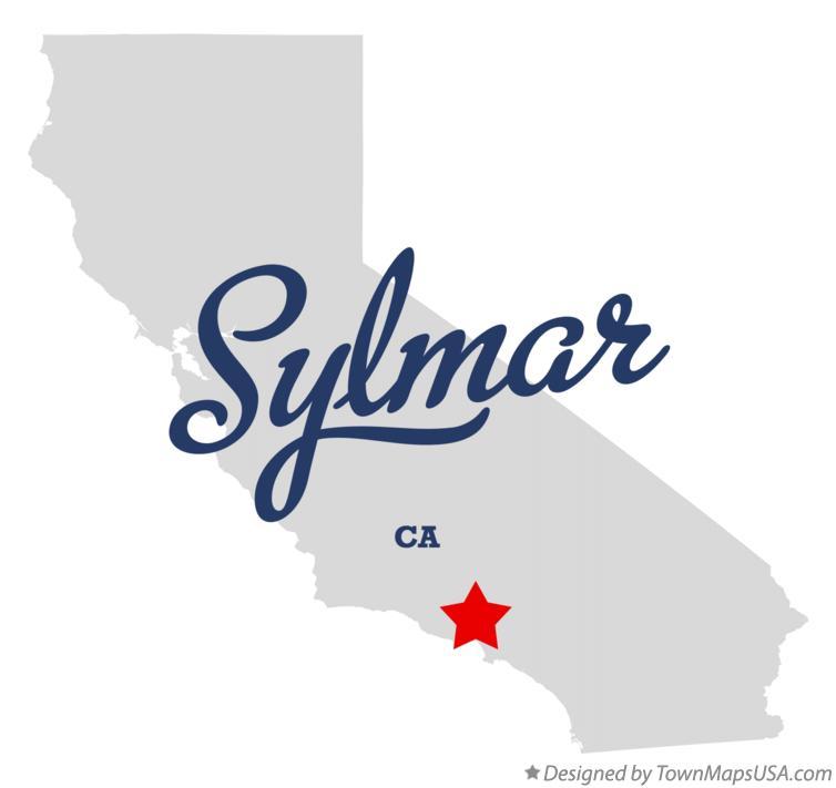 Map Of Sylmar Ca California
