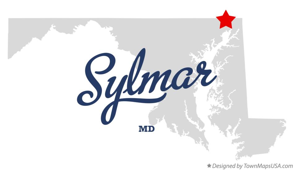 Map of Sylmar Maryland MD