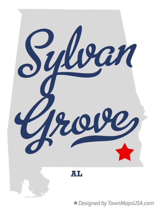 Map of Sylvan Grove Alabama AL