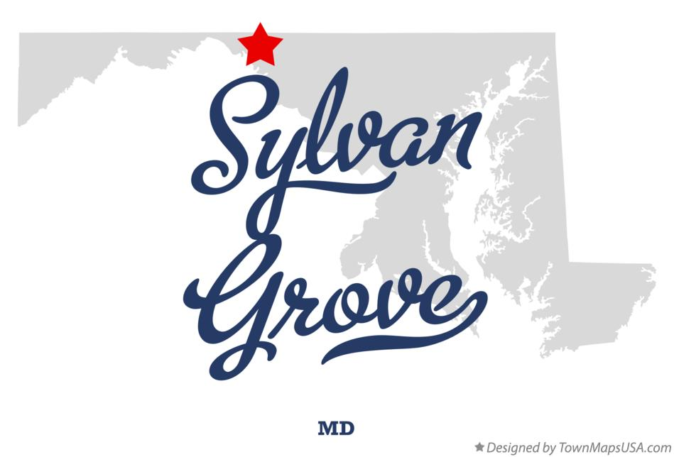 Map of Sylvan Grove Maryland MD