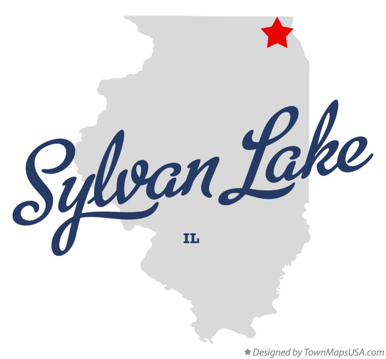 Map of Sylvan Lake Illinois IL