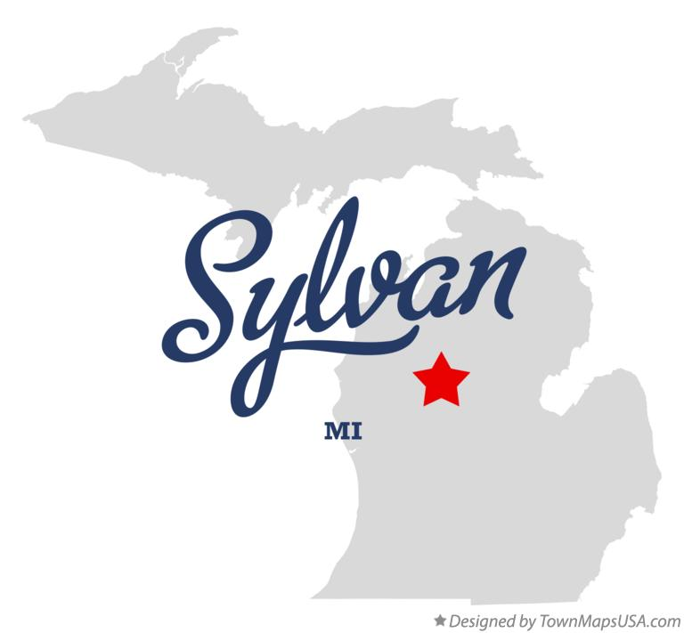 Map of Sylvan Michigan MI