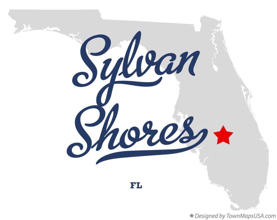 Map of Sylvan Shores Florida FL