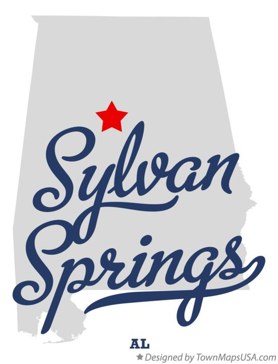 Map of Sylvan Springs Alabama AL