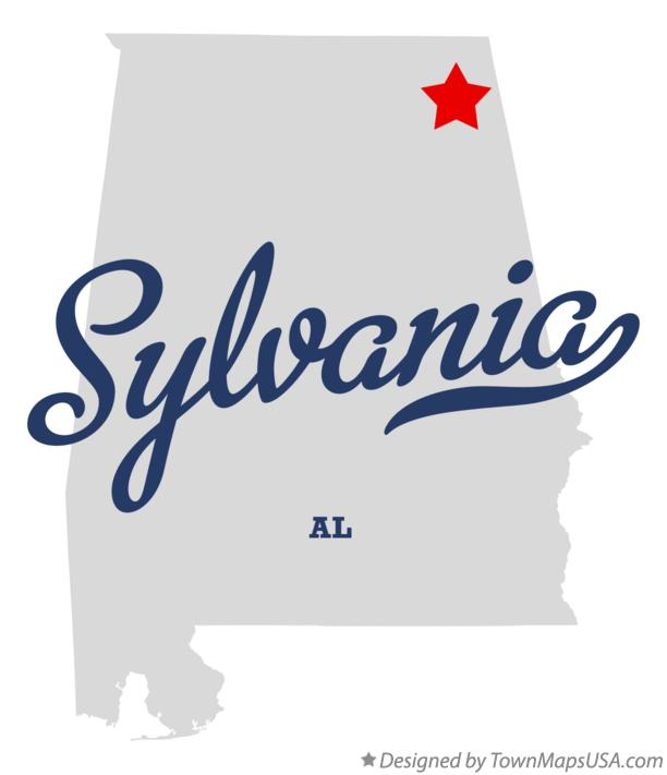 Map of Sylvania Alabama AL