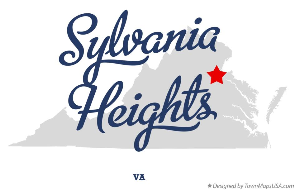 Map of Sylvania Heights Virginia VA