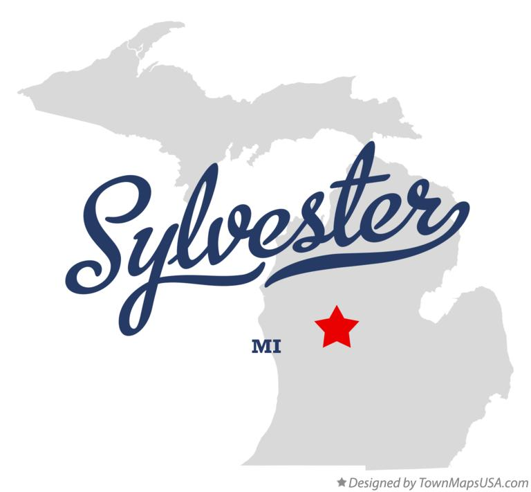 Map of Sylvester Michigan MI