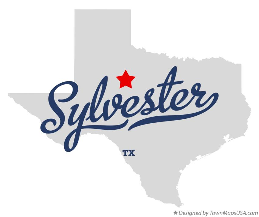 Map of Sylvester Texas TX