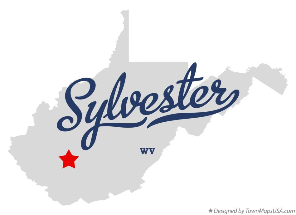 Map of Sylvester West Virginia WV