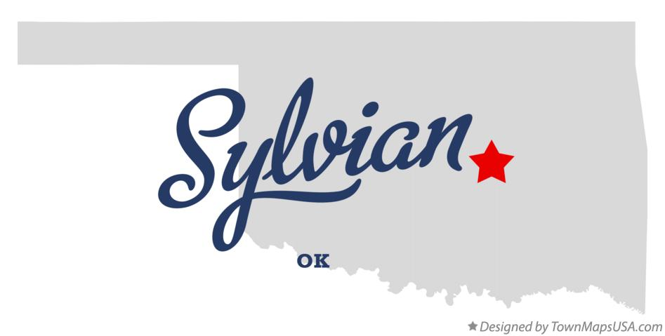 Map of Sylvian Oklahoma OK