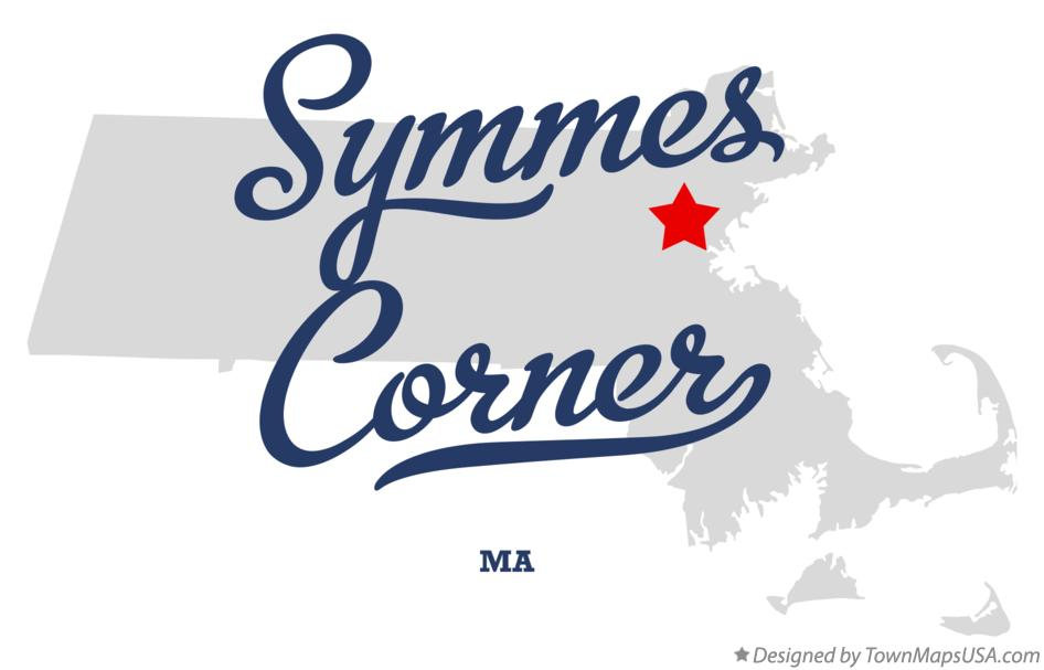 Map of Symmes Corner Massachusetts MA
