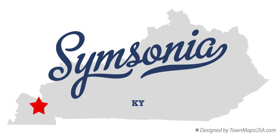 Map of Symsonia Kentucky KY