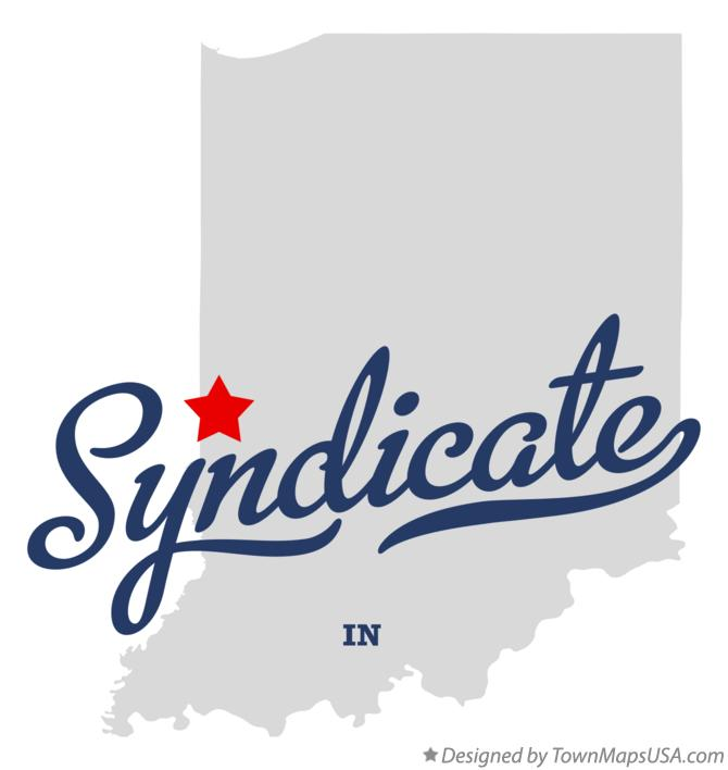 Map of Syndicate Indiana IN