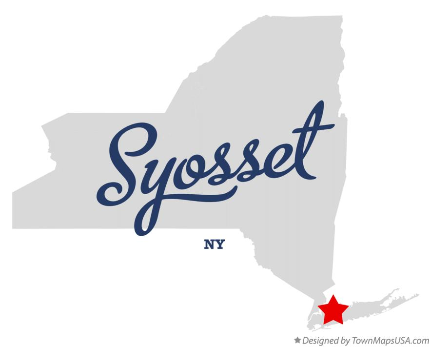Map of Syosset New York NY
