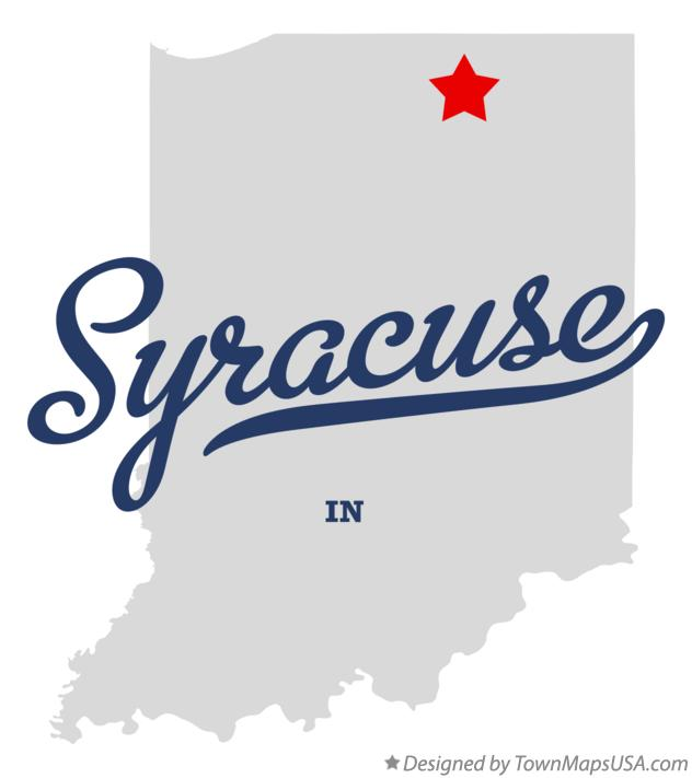 Map of Syracuse Indiana IN
