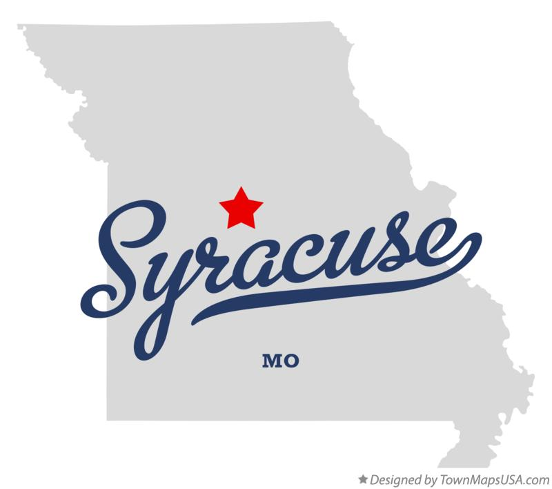 Map of Syracuse Missouri MO