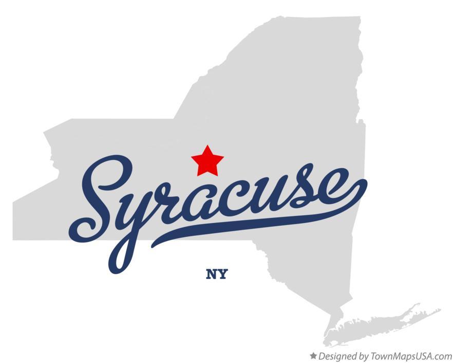 Map of Syracuse NY New York