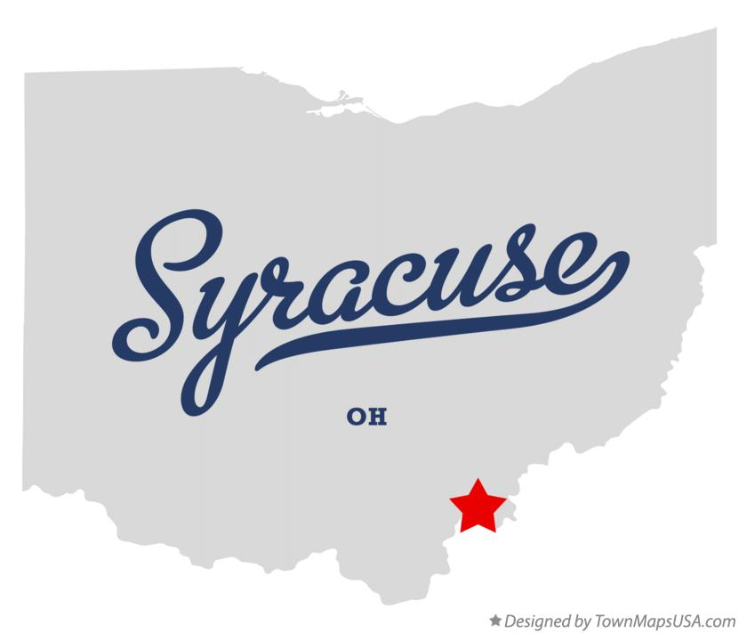 Map of Syracuse Ohio OH