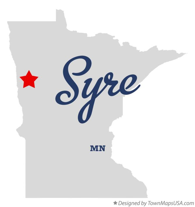 Map of Syre Minnesota MN