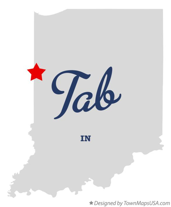 Map of Tab Indiana IN