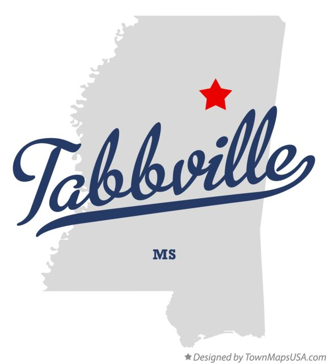 Map of Tabbville Mississippi MS