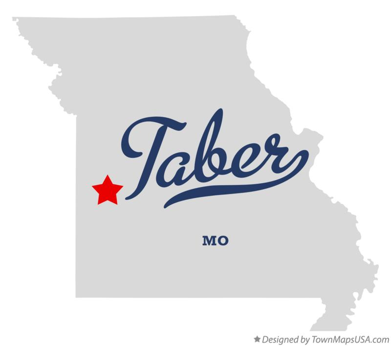 Map of Taber Missouri MO
