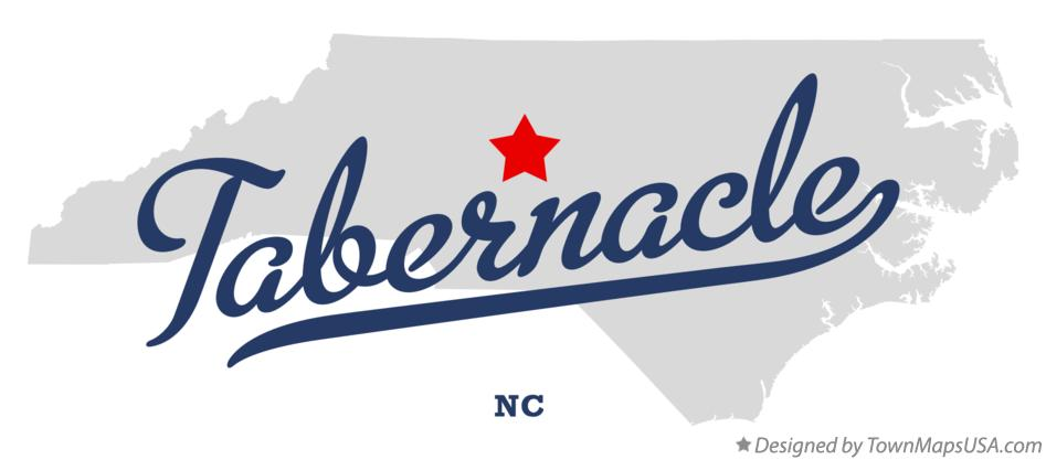 Map of Tabernacle North Carolina NC