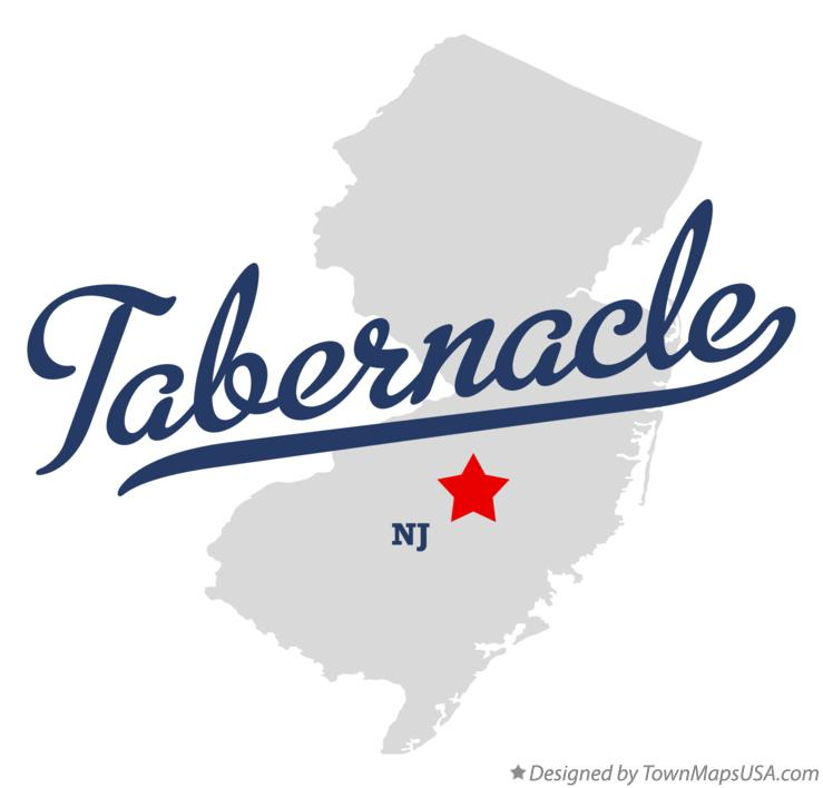 Map of Tabernacle New Jersey NJ