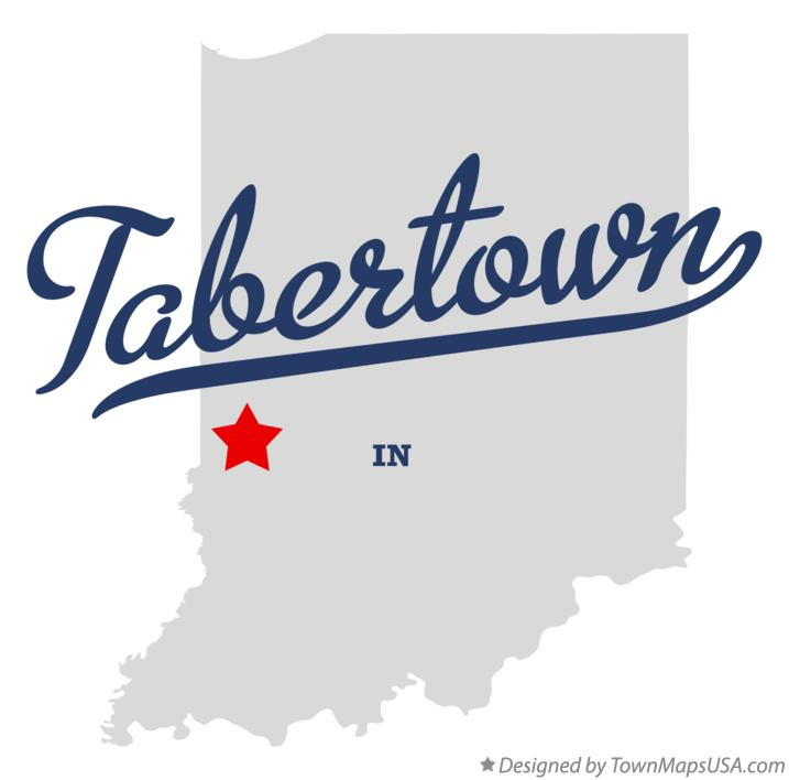 Map of Tabertown Indiana IN