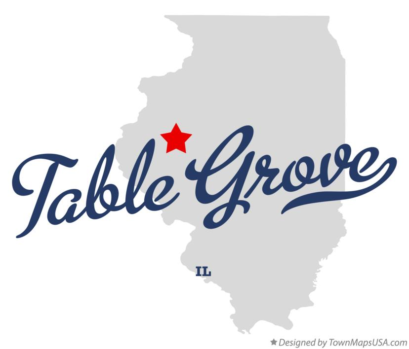 Map of Table Grove Illinois IL