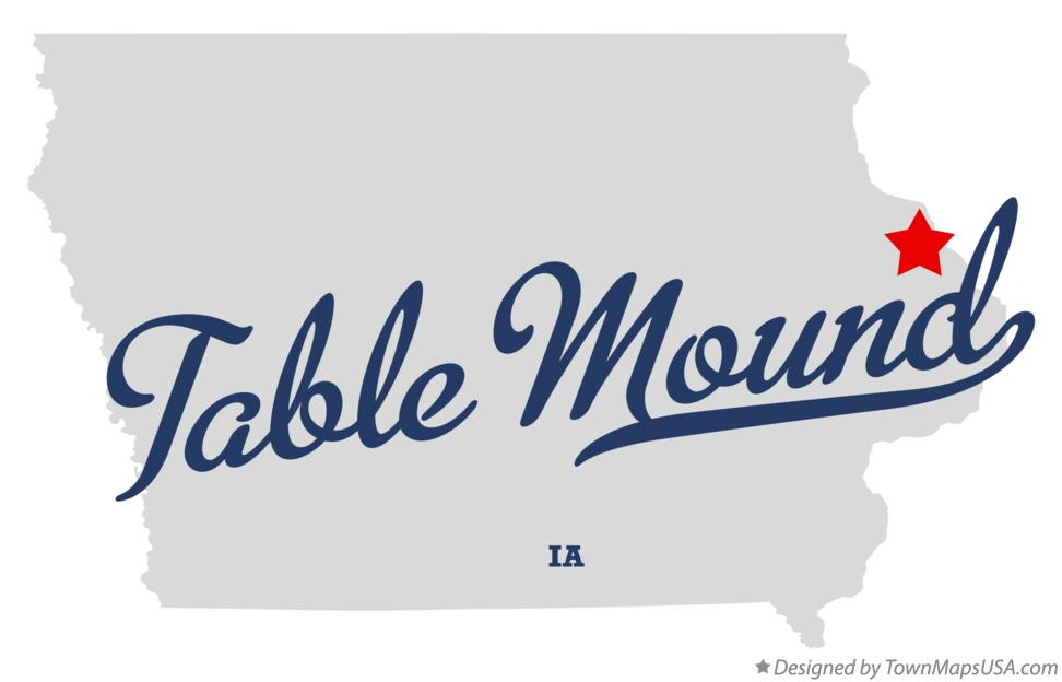 Map of Table Mound Iowa IA