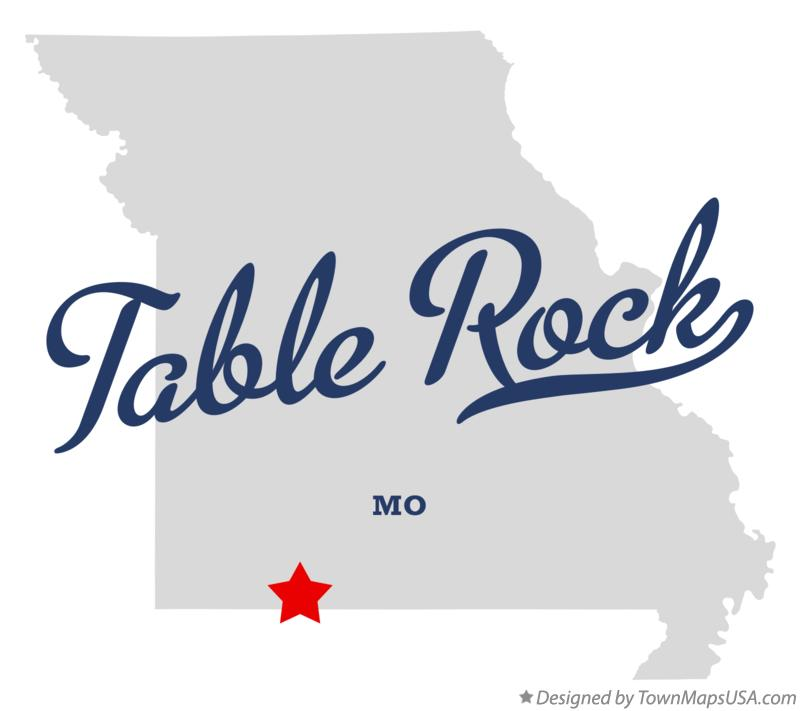 Map of Table Rock Missouri MO