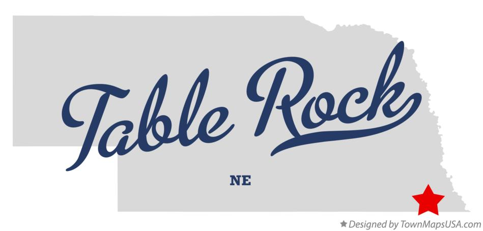 Map of Table Rock Nebraska NE
