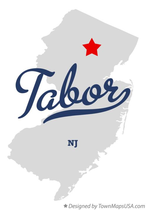 Map of Tabor New Jersey NJ