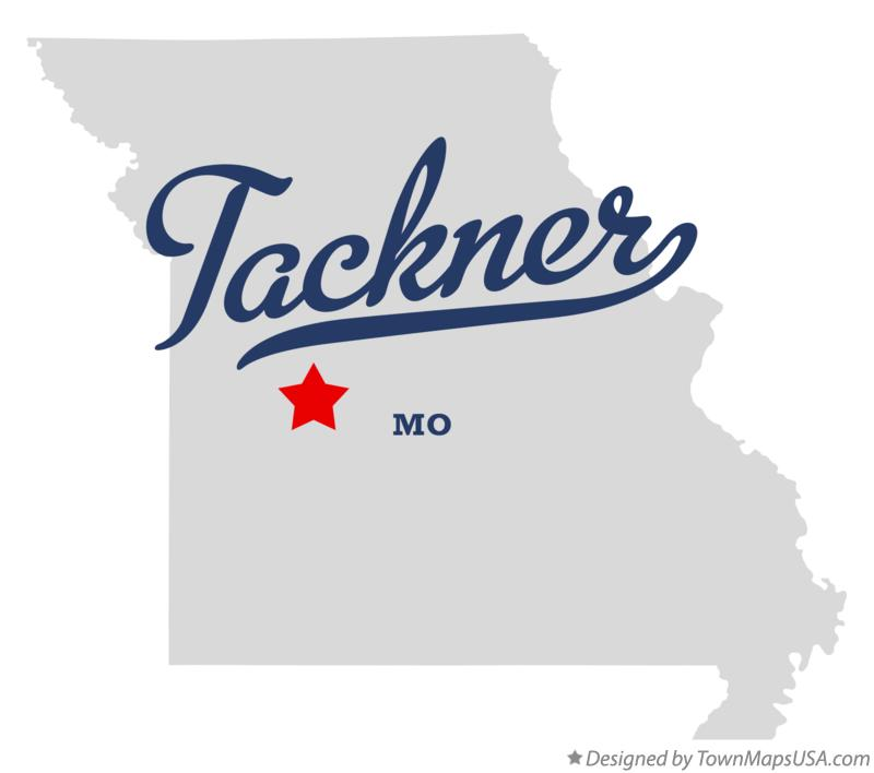 Map of Tackner Missouri MO