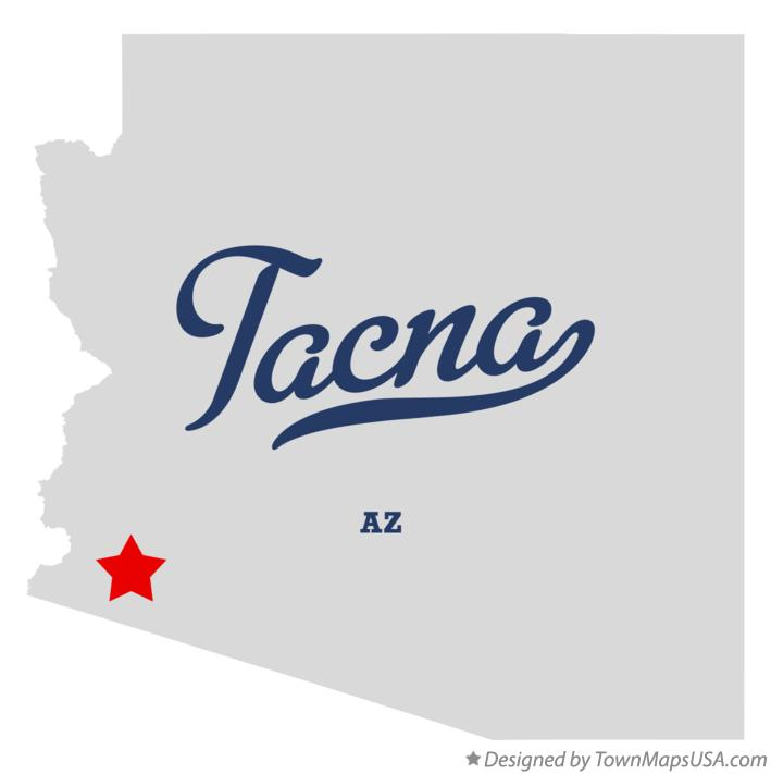 Map of Tacna Arizona AZ