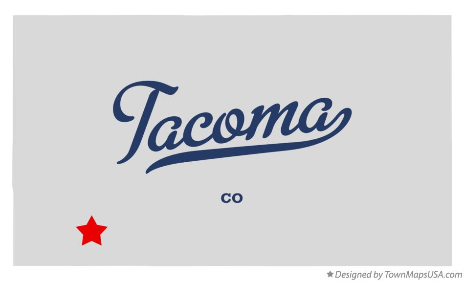 Map of Tacoma Colorado CO