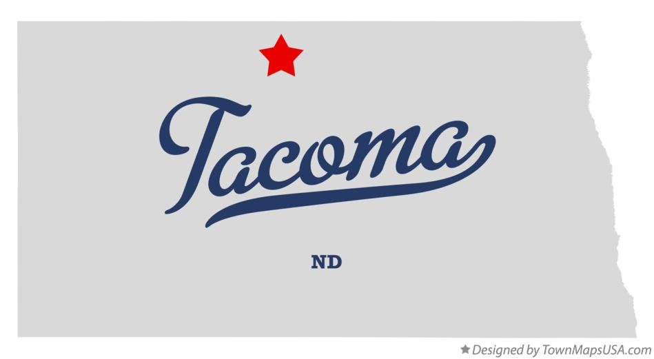 Map of Tacoma North Dakota ND