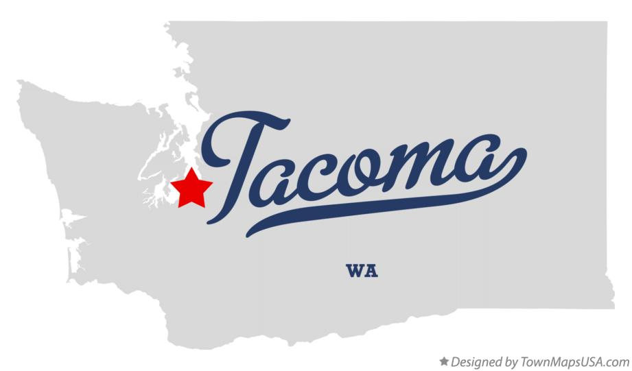 Map of Tacoma, WA, Washington
