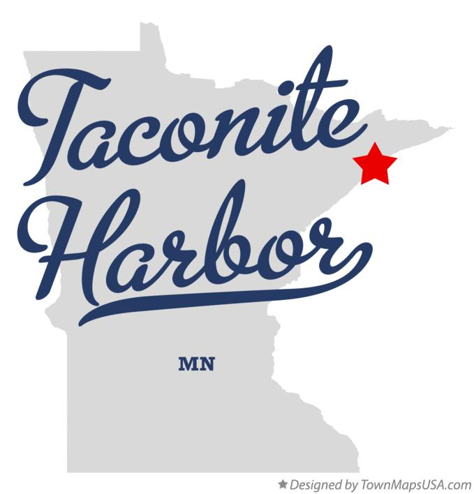Map of Taconite Harbor Minnesota MN